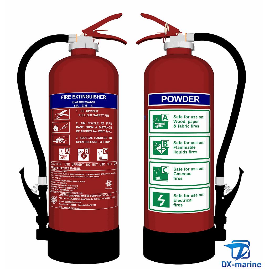 Fire Extinguisher RPD-12C Powder EC/MED